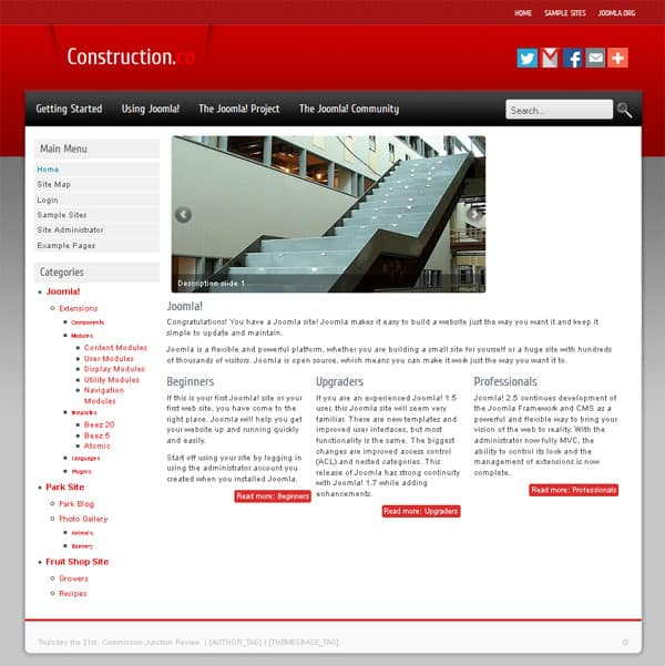 Construction Free Joomla Template