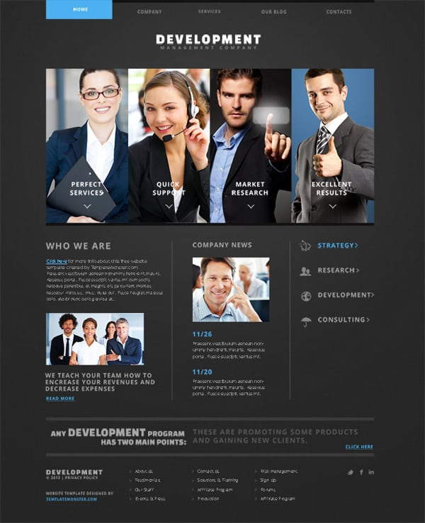 Development. Free Website Template