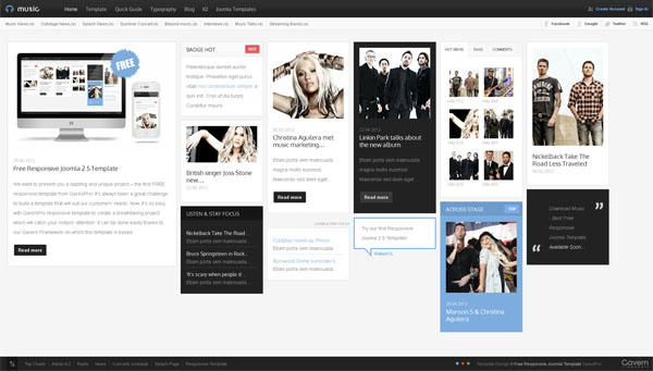 Music. Free Joomla Template