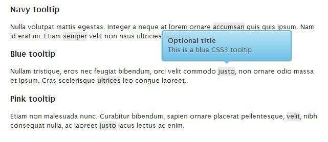 CSS Tooltip