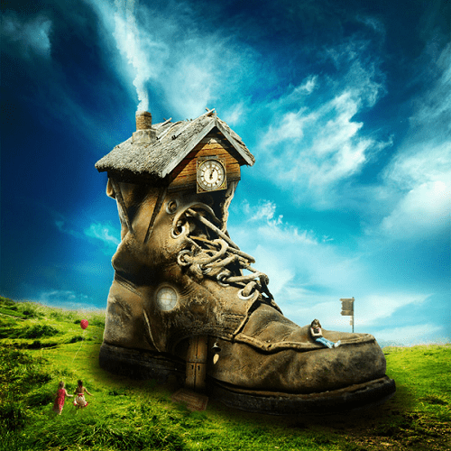 photo-manipulate-a-magical-shoe-house