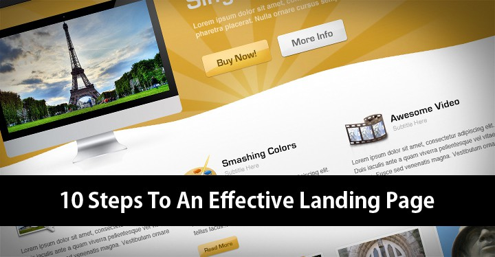 10 Steps To An Effective Landing Page