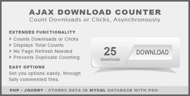 AJAX Download Counter