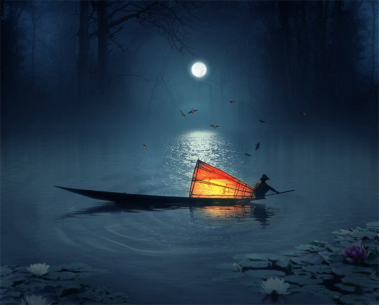 fisherman-in-the-lake-photoshop