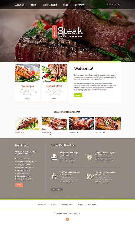 Steakhouse Responsive Joomla Template