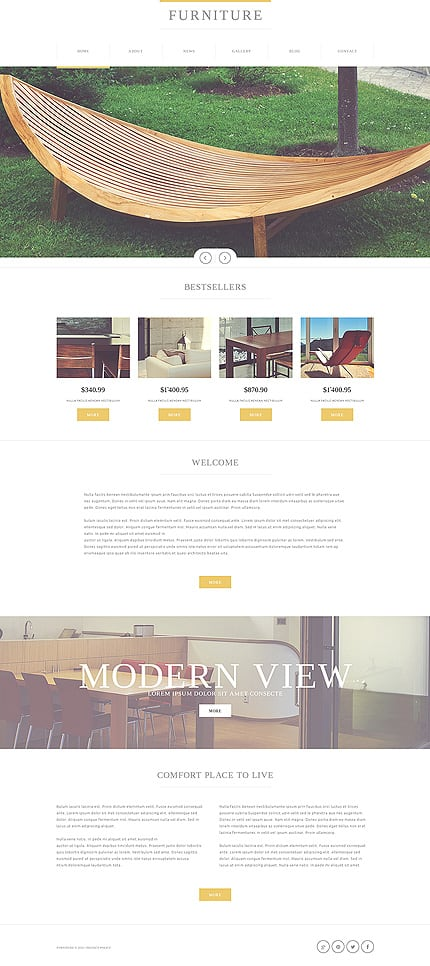 Furniture Manufacturing Company Joomla Template