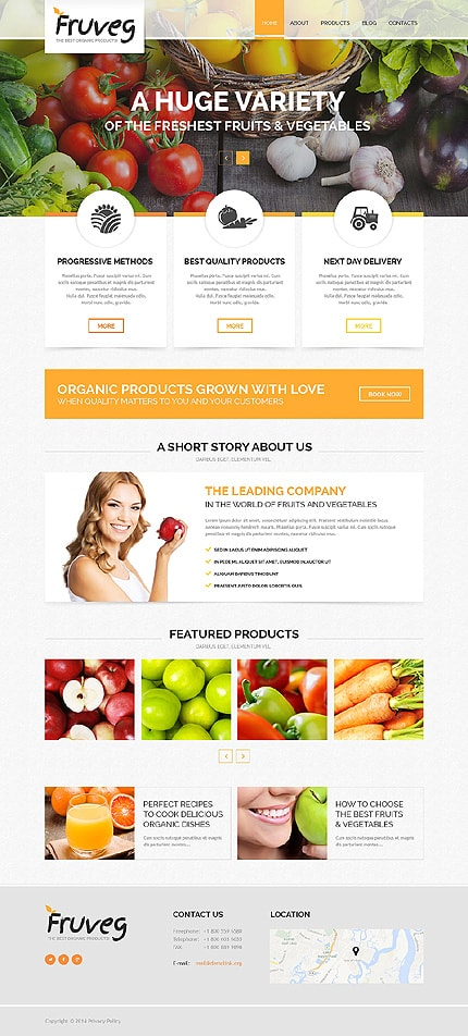 The Best Organic Products Joomla Template