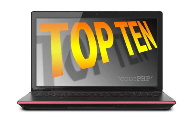 Top ten high-end laptops