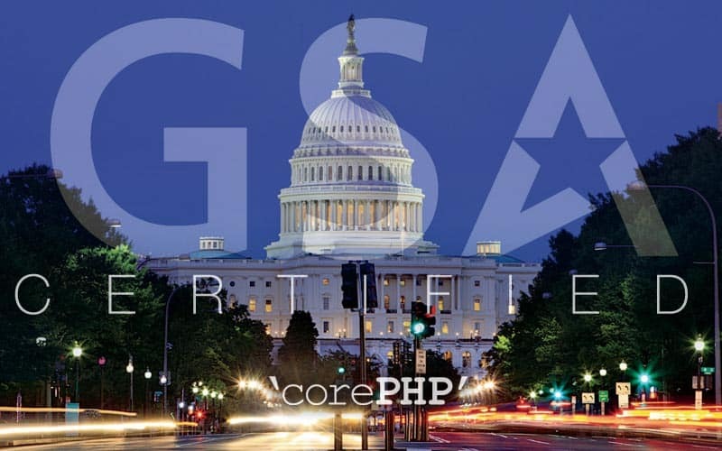 'corePHP' earns GSA certification
