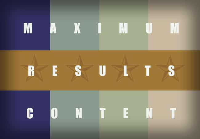 maximum results content