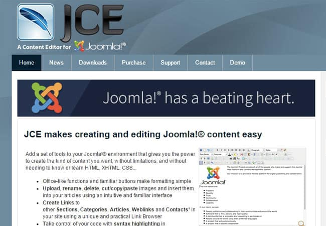JCE Editor is a must-have Free Joomla Extension