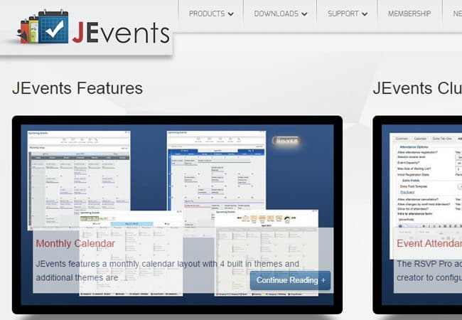 JEvents - one of the best free Joomla extensions