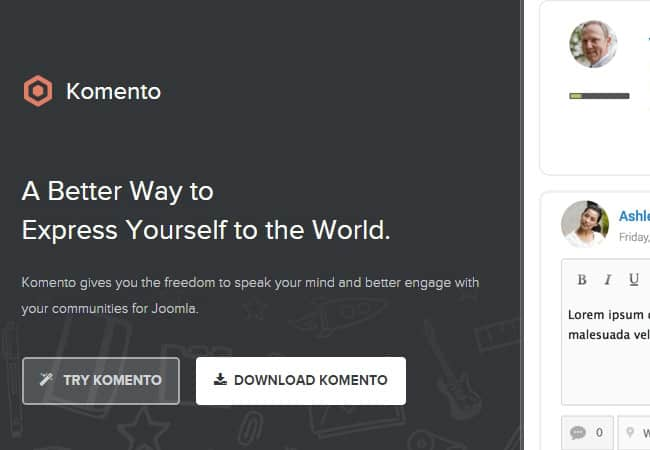 Kommento Commenting System - One of the very best free Joomla extensions you'll find.