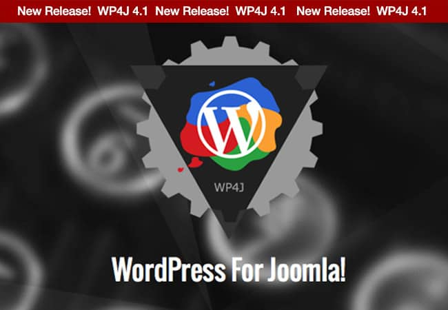 Introducing WordPress For Joomla version 4.1