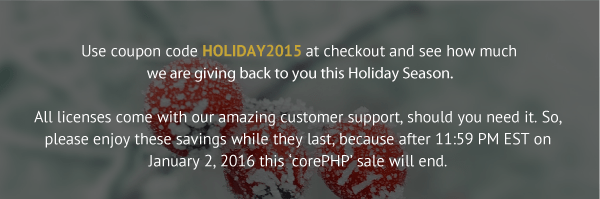 HOLIDAY2015 Promotion