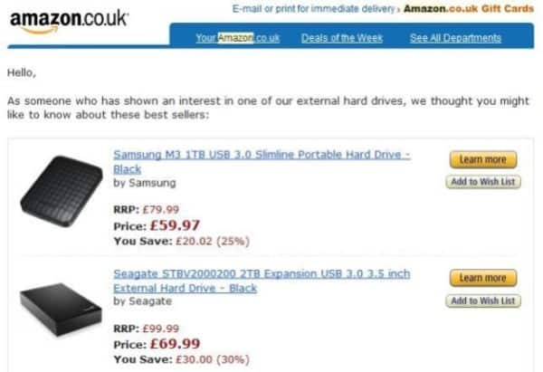 amazon e-commerce screenshot