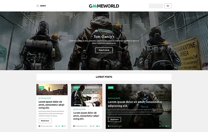 Games WP Theme