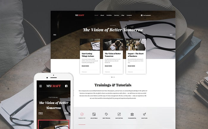 Crafts Responsive WordPress Theme