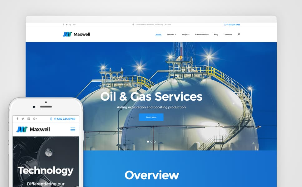 Gas Company WordPress Theme