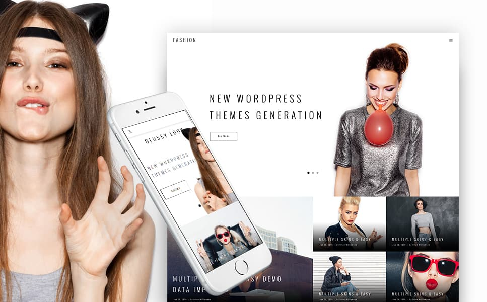 Blogging WordPress Theme with Trendy Design