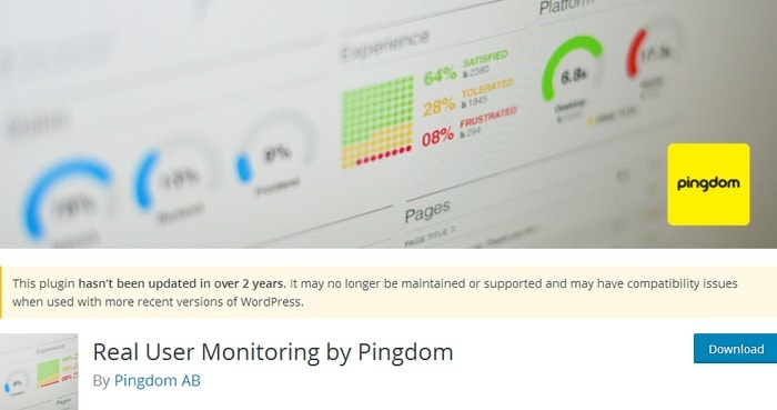 real user monitoring by pingdom