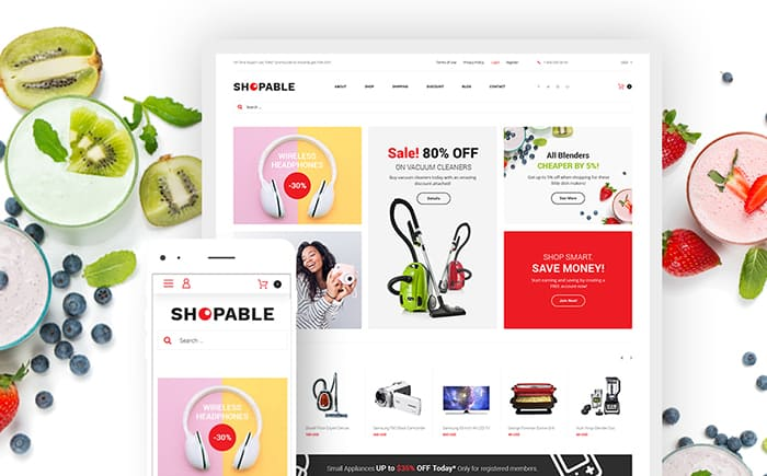 Shopable - Multiconcept Store Responsive WooCommerce Theme