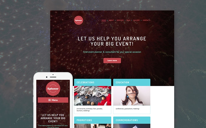Event Planner WordPress Theme