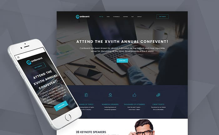 Conference & Event Landing Page WordPress Theme