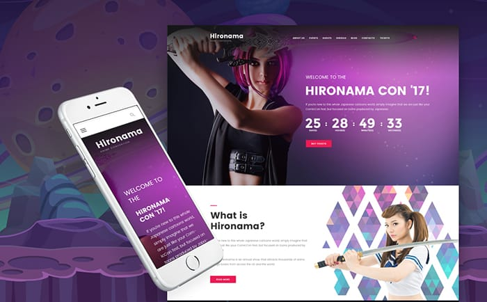 Manga WordPress Theme