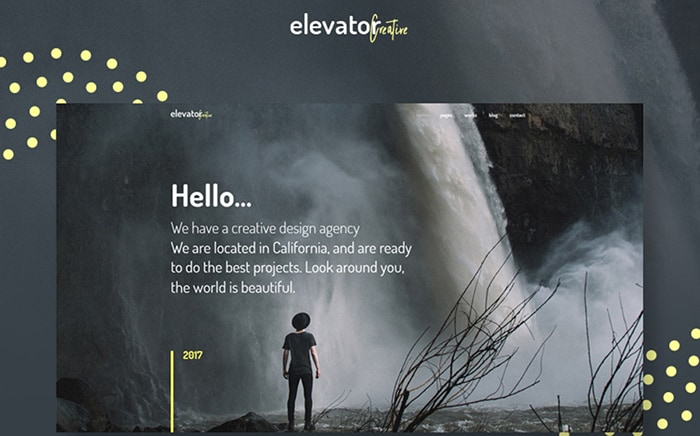 Outstanding Artists Portfolio WordPress Template