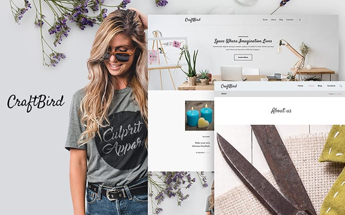 Hand-Crafts Blog Responsive WordPress Template