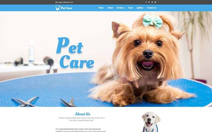 Pet Care Unbounce Template