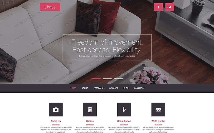 Interior & Furniture Free Joomla Template