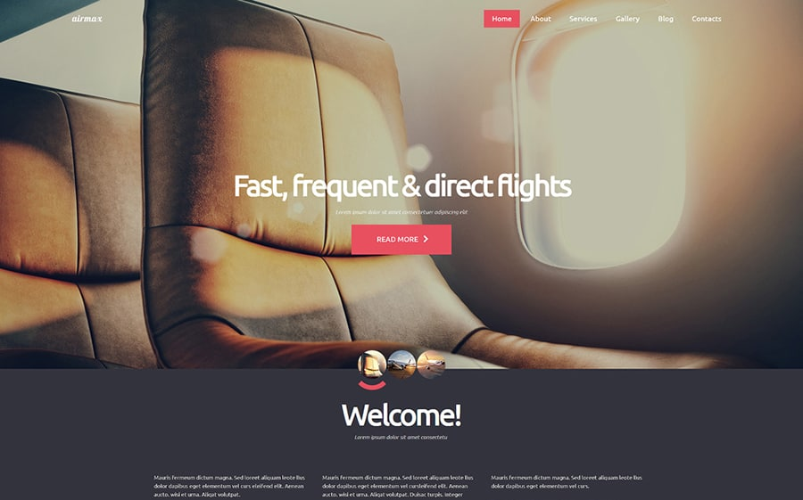 Private Airline Joomla Template