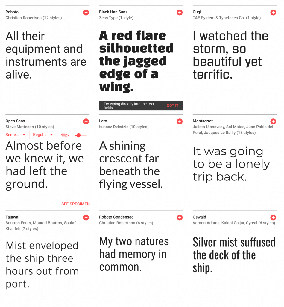 Web Fonts for typography