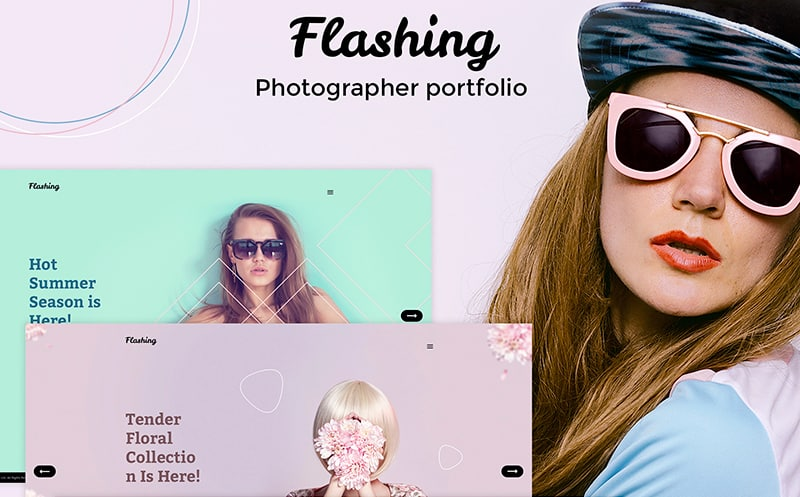 Flashing - Photographer Portfolio WordPress Theme