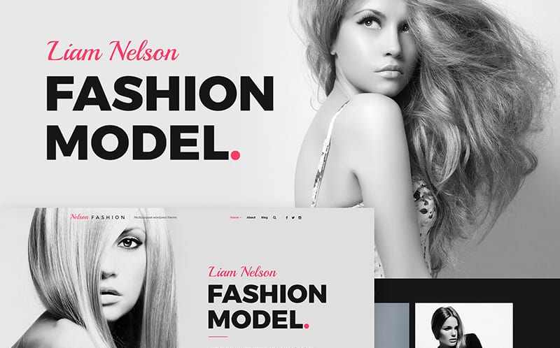 Nelson Fashion - Model Agency WordPress Theme
