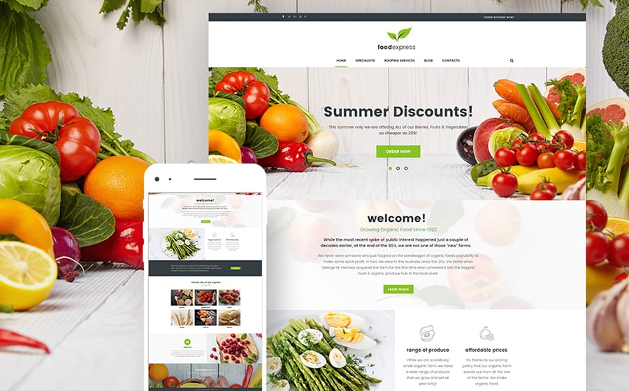 Farm Food WordPress Theme