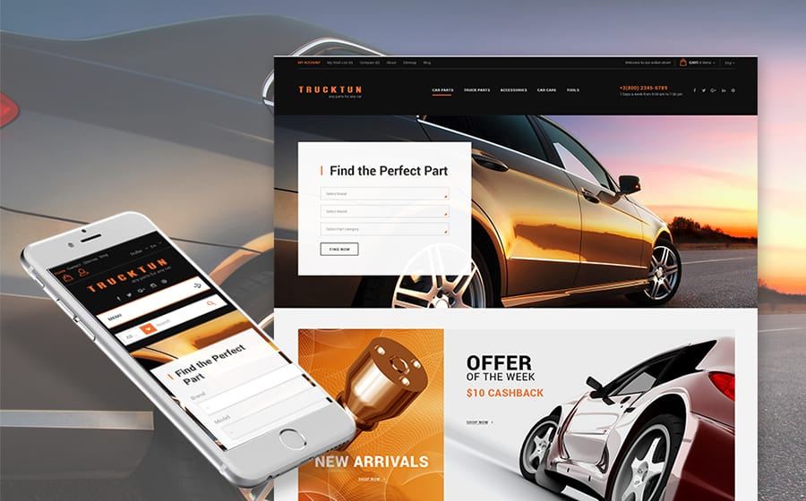 Trucktun - Parts for Cars Prestashop Theme