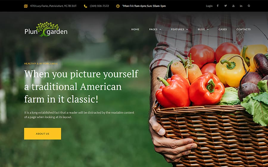 Plungarden - Village Farm Responsive Elementor WordPress Theme