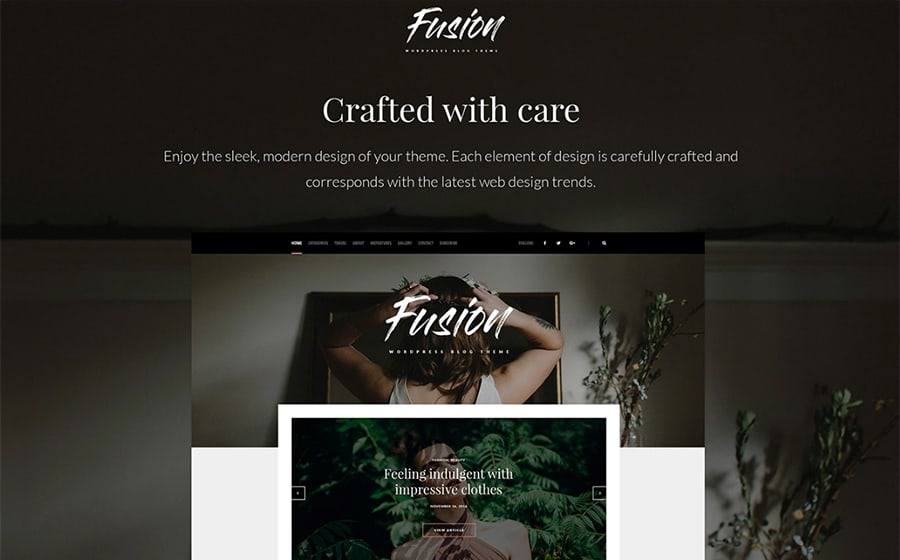 WordPress Fashion Blog Theme