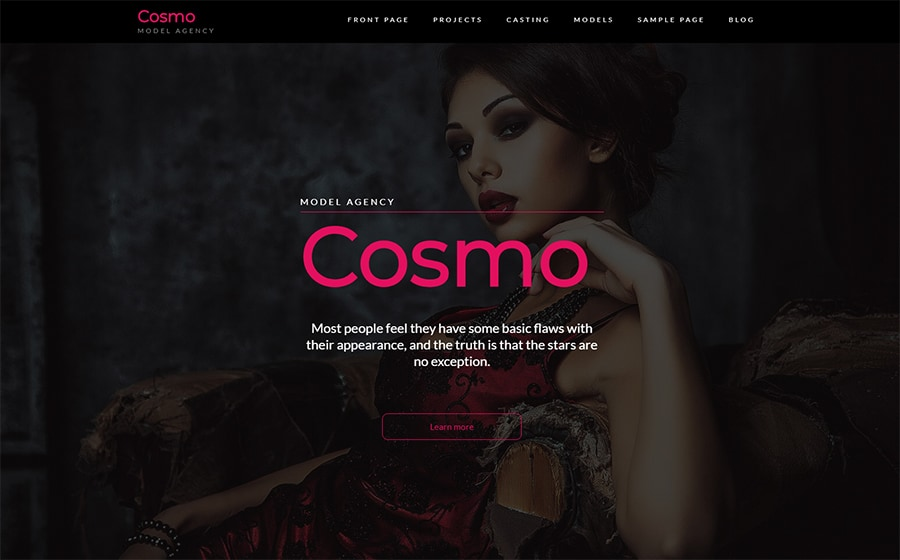 Cosmo - Model Agency WordPress Theme