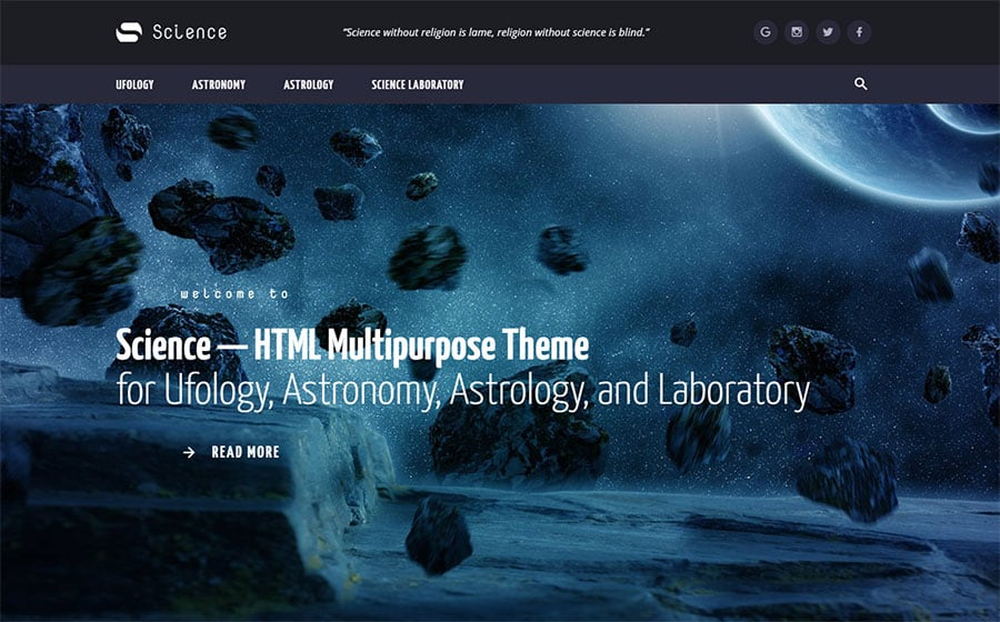 Science Multipurpose HTML5 Template