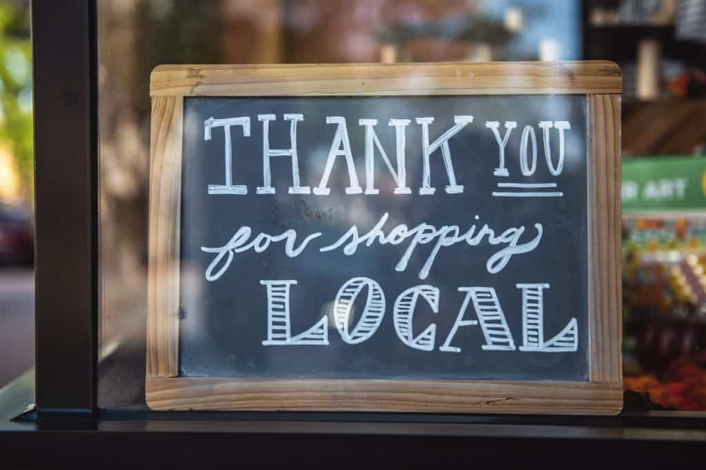 Small business Thank you for shopping sign