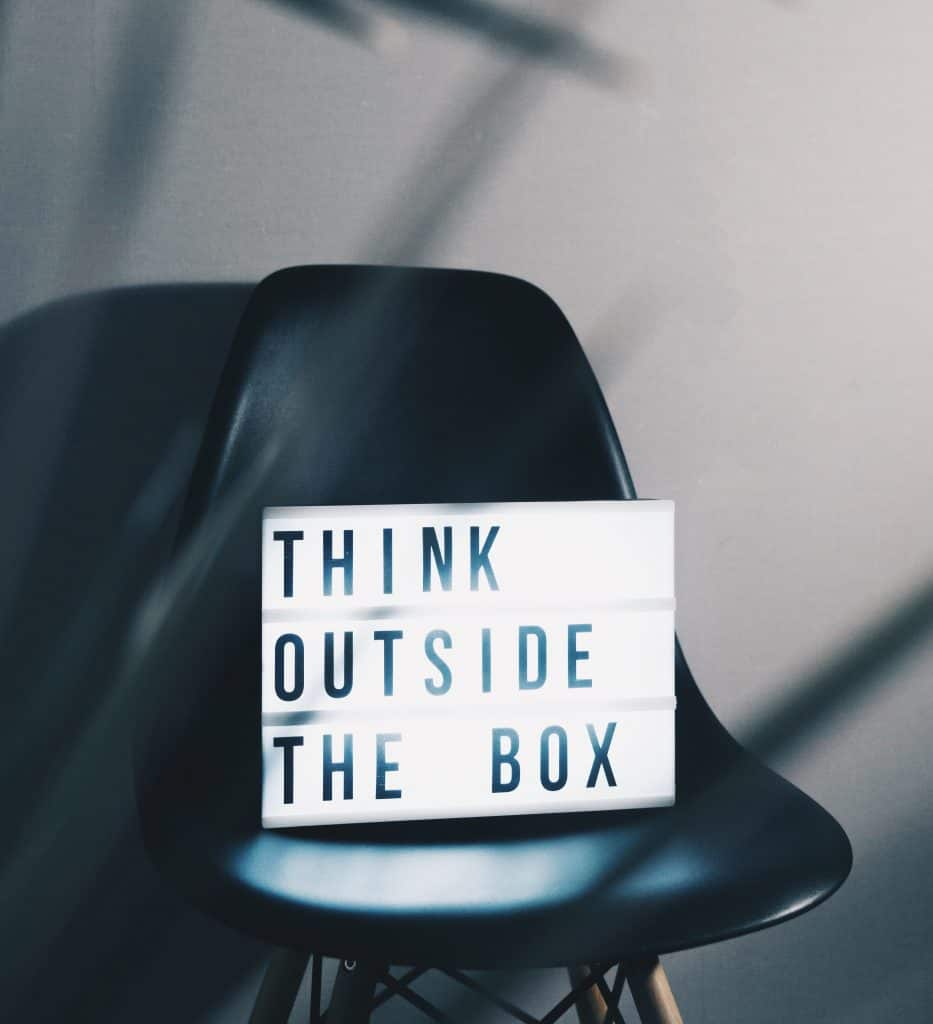 Business thinking outside the box