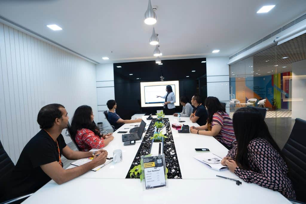 Digital Marketing Agencies at work in a conference room