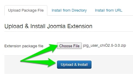 upload chimpyourjoomla plugin