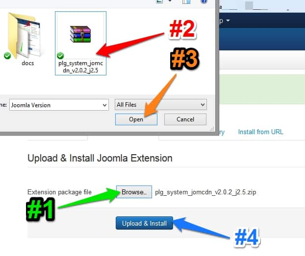 Steps to upload jomCDN