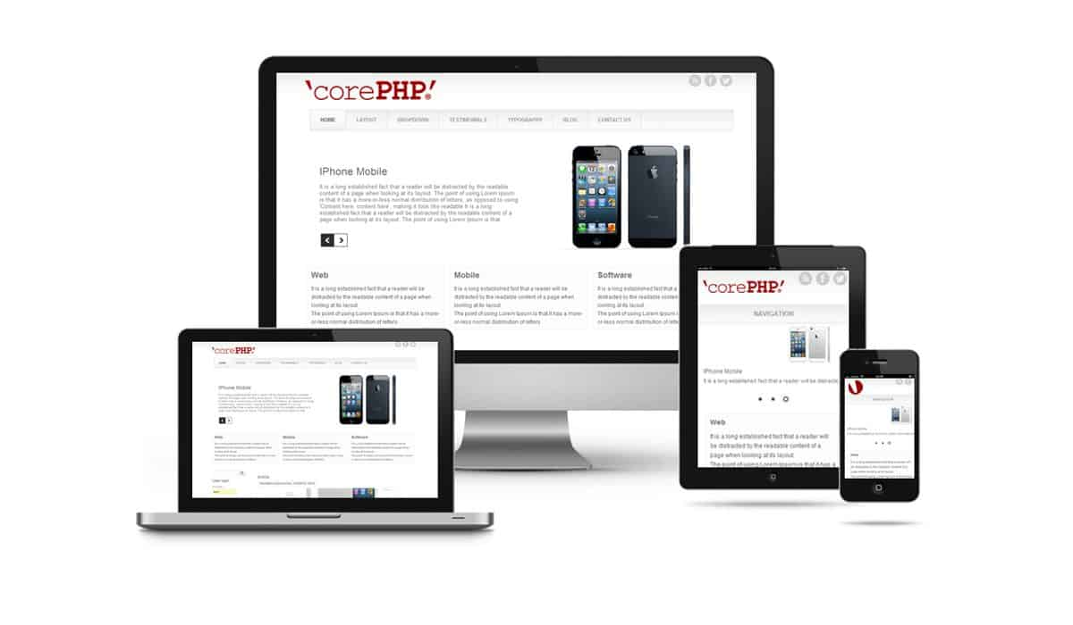 Responsive themes and templates from 'corePHP' for Joomla!, Wordpress, Drupal, paGO, and more!