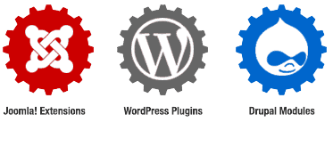 Custom extensions, widgets, modules for Joomla, WordPress and Drupal